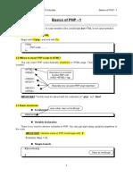 PHP Basics 1-1