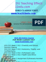 HCA 322 EDU Teaching Effectively/hca322edu.com