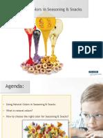 Using Natural Colors in Seasoning & Snacks (Rikke Sakstrup Frandsen)