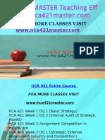 HCA 421 MASTER Teaching Effectively/hca421master.com