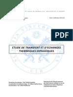 Etude de Transfert Et d Echanges Thermiques Diphasiques