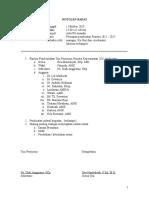 Rencana Strategi Keperawatan 2011-2015 Notulen