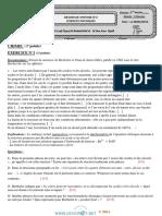 Devoir de Synthèse N°2 Lycée pilote - Sciences physiques - 3ème Math (2013-2014) Mme LARIF HAYET  (2)