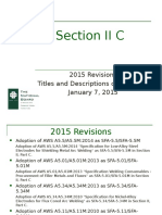 ASME Section II C 2015 Changes