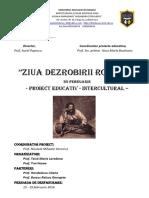 Proiect Educativ Dezrobirea Romilor 20 Februarie
