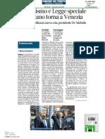 """""""Il Riformismo a Venezia e in Italia"""" - Corriere del Veneto"""