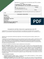 Plan General Diseñado y Aprobado en Consenso Por Los Docentes Del CFP en Ambas Jornadas