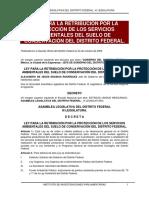 Ley Para La Retribución Por La Protección de Los Servicios Ambientales Del Suelo de Conservación Del Distrito Federal