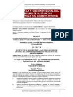 Ley Para La Atención Integral de Sustancias Psicoactivas en El Distrito Federal