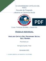 Análisis crítico del Programa Social Qali Warma