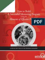 How to Build an Effective Mentoring Program