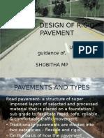 Seminar design of rigid pavement