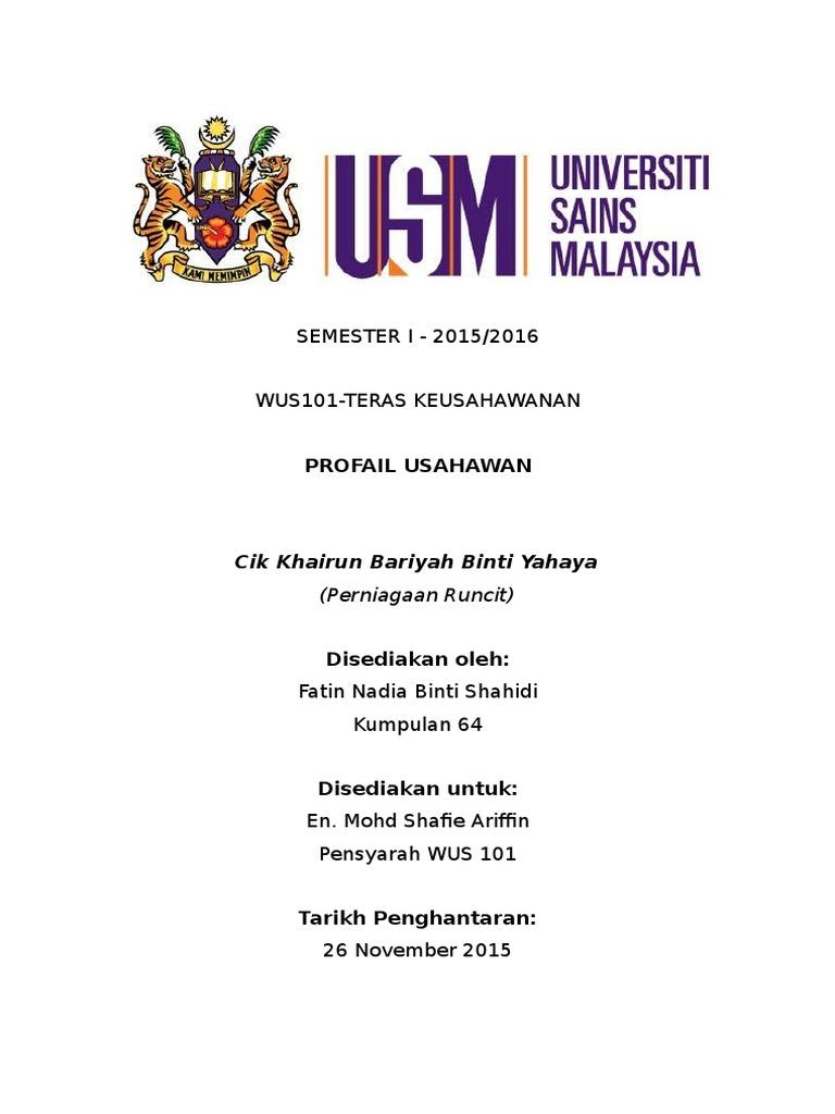 Profil Usahawan Wus 101