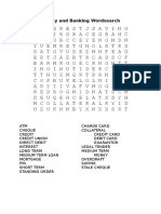 money and banking wordsearch