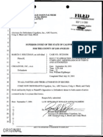 Holtzman v. Cirgadyne – Reply to Opposition to Demurrer to Complaint