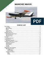 Comanche Checklist