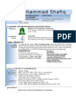 CV Muhammad Shafiq(Software Engineer).