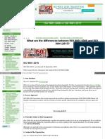 Www Qualitygurus Net ISO 9001 3A2008 vs ISO 9001 3A2015