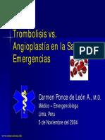 Trombolisis o Angioplastia