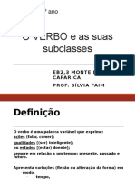 As Subclasses Do Verbo