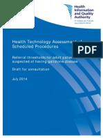 HIQA Gallstone Disease for Consultation