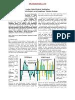 Analog Digital Hybrid Modulation for Improved Efficie