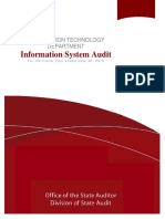 Audit Report by Entity Level Controls Test Steps