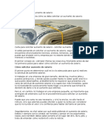 Modelo de Carta de Aumento