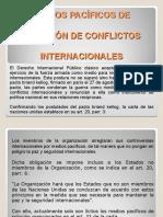 5. Medios Pacíficos de Solución de Conflictos Internacionales