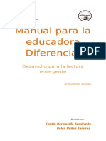 Manual Para La Educadora Diferencial