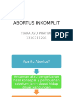 ABORTUS INKOMPLIT