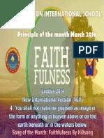 March - Faithfulness