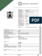 Interruptor diferencial ID - 2 polos 63A 30mA - Classe A