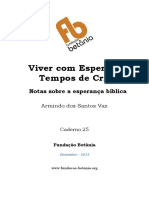 Caderno 25 Viver Com Esperanca Armindo Vaz
