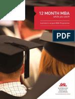 AIB - 12 Month MBA - Brochure
