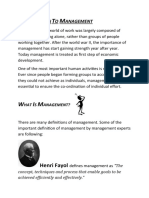 What is Managent and functions of management