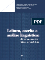 Leitura Escrita Analise Linguistica Pressupostos Teorico Metodologicos Versao Atualizada 2013