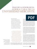 Universidad y Mercancía