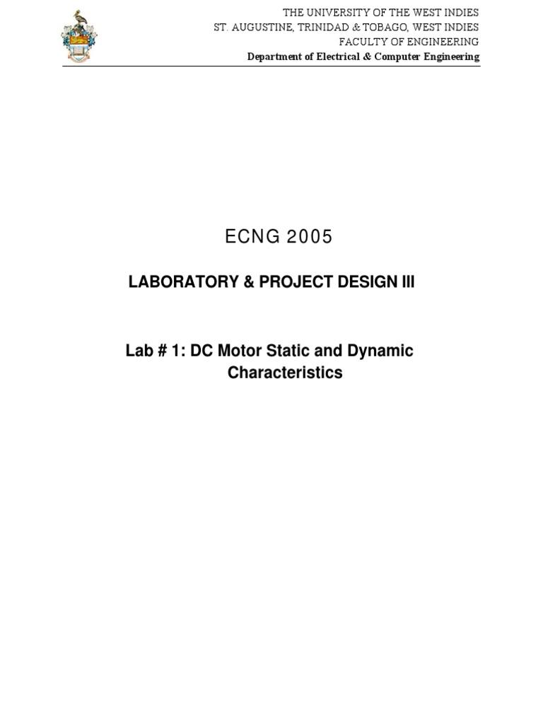 Control Lab1 | Electric Motor | Servomechanism on