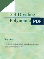 5-4 dividing polynomials