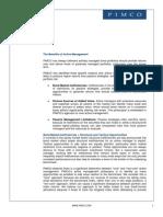 Benefits of Active Management - PIMCO