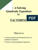 4-4 factoring quadratid expressions