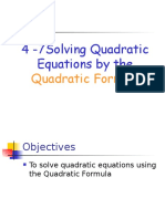 4-7 solving quadratic equations