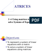 3-6 matrix systems