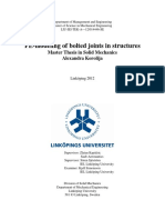 FE-modeling of Bolted Joints in Structures