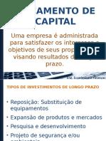 Orçamento de Capital - Revisão