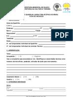 Ficha de inscrição do Iguatu festeiro
