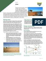 Energy Irrigation Saving Energy in Irrigation