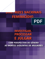 Diretrizes Nacionais para investigar, processar e julgar com perspectiva de gênero as mortes violentas de mulheres (feminicídios)