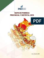 INEI 2013 Mapa de Pobreza Provincial y Distrital Libro_HVCA
